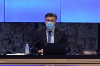 A. Plenković jutros (foto : Vlada RH)