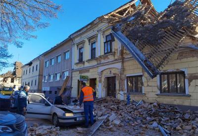 Potres u petrinji (foto Zaklada Solidarna)
