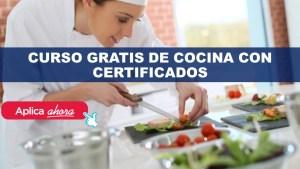 Curso gratis de Cocina con Certificado