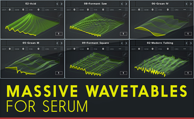 Massive Wavetables for Serum