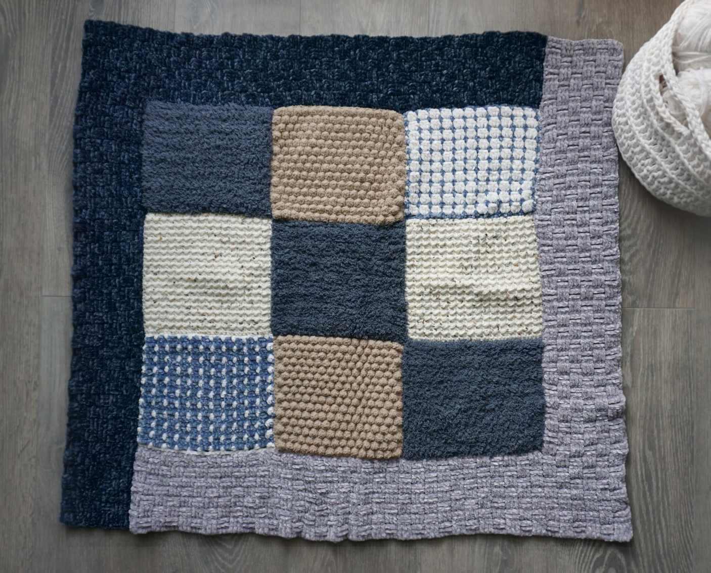 crochet baby blanket result