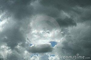 bright rain clouds