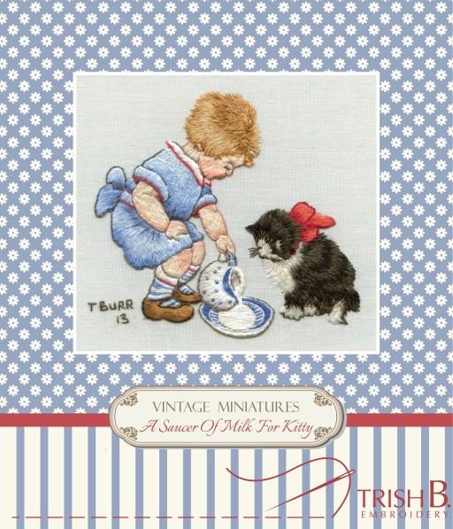 Saucer of milk for kitty kit