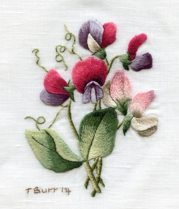 sweet pea embroidery # 48