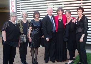 Tutors at Gala dinner left to right:  Hazel Blomkamp, Betsy Morgan, Julie Graue, Gary Clark, Trish, Margaret Light, Deborah Love.