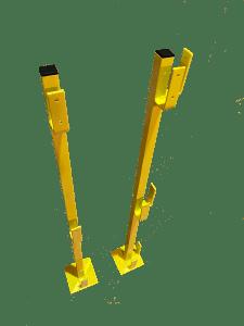 temporary posts, temporary handrail set