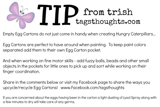 Egg Carton Tip from Trish trishsutton.com