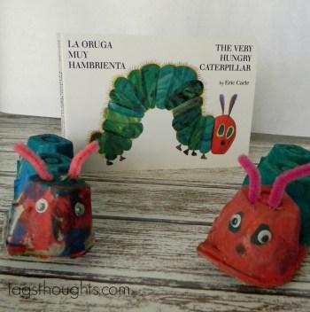 Hungry 'Egg Carton' Caterpillar Craft for kids by trishsutton.com
