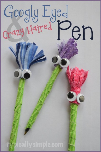 Googly Eyed Crazy Haired Pen