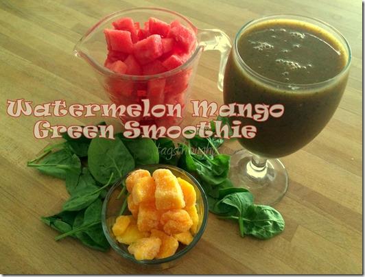 watermelon mango green smoothie