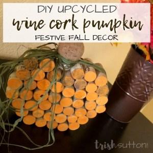 wine cork shaped pumkin