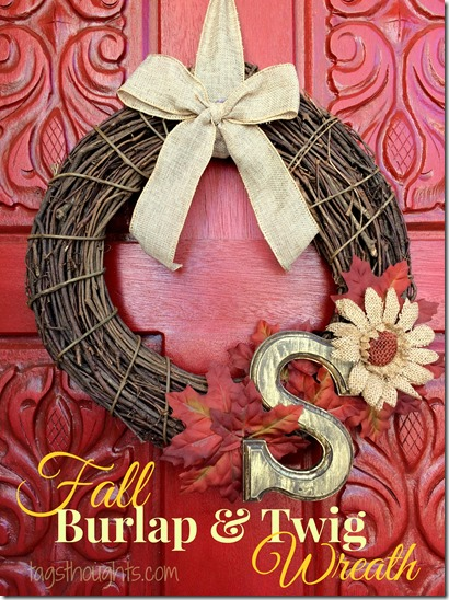 Fall Burlap & Twig Wreath by trishsutton.com