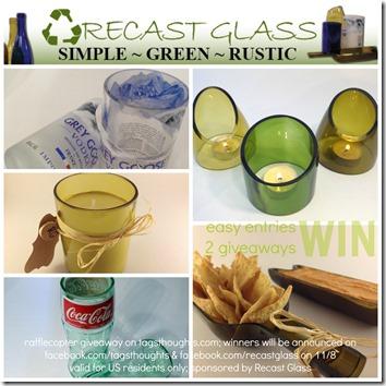 Recast Glass - Upcycled & Repurposed; Review at trishsutton.com