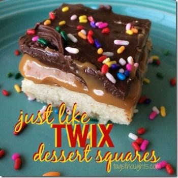 Just Like 'Twix' Dessert Squares Recipe by trishsutton.com