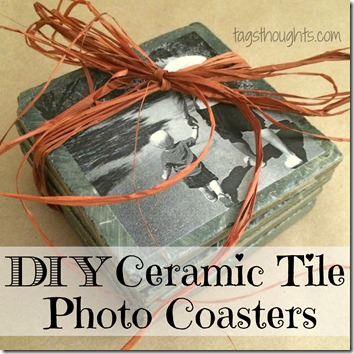 DIY Ceramic Tile Photo Coasters make a lovely homemade gift for Birthdays, Christmas, Mother's Day, Father's Day & Grandparent's Day! TrishSutton.com