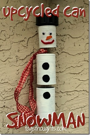 Upcycled Can Snowman