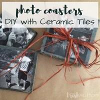 DIY Ceramic Tile Photo Coasters