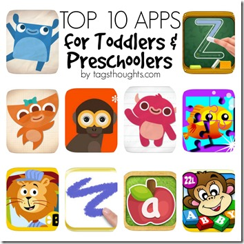 Top 10 Toddler & Preschool Apps by trishsutton.com