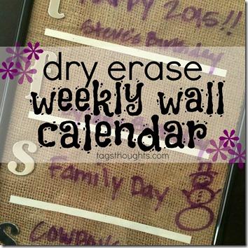 Dry Erase Weekly Wall Calendar by trishsutton.com