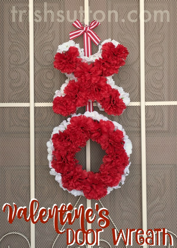 A Valentine's welcome for January and February visitors. Welcome Love Valentine's Door Wreath.