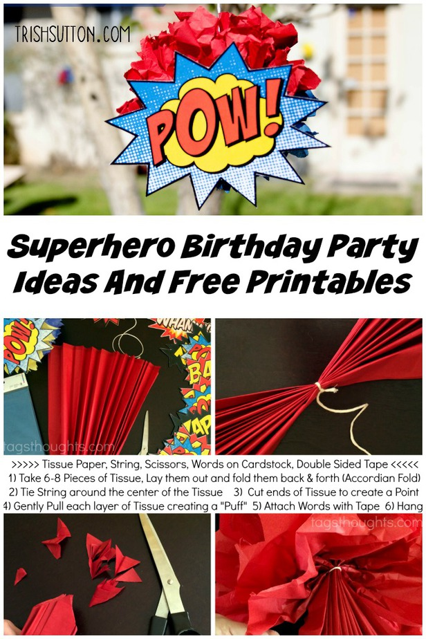 free superhero birthday printables