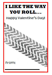 "Sugar Free Kid's Valentine - FREE Printable; ""I Like The Way You Roll"""