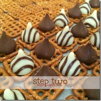 Sweet & Salty Chocolatey Pretzel Snacks by trishsutton.com 2 #hersheys #kisses #hugs #chocolate #pretzels