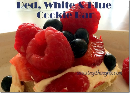 Red, White & Blue Cookie Bar