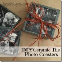 DIY Ceramic Tile Photo Coasters by trishsutton.com