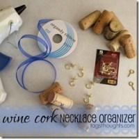 DIY Upcycle Wine Cork Jewelry Necklace Organizer by trishsutton.com 001