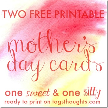 Free Printable Mother's Day Cards by trishsutton.com