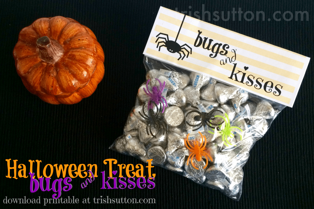 Bugs & Kisses Halloween Treat And Free Printable
