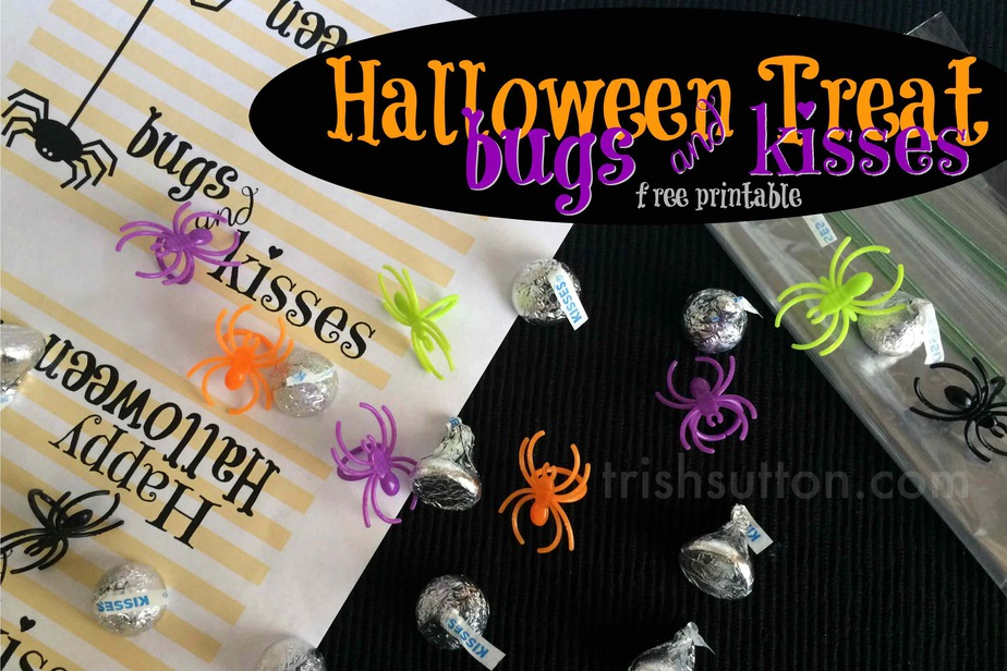 photograph regarding Bugs and Kisses Printable named Insects Kisses Halloween Deal with and Cost-free Printable