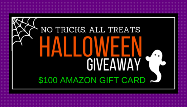 No Tricks, All Treats Halloween Giveaway; 22 chances to win this $100 Amazon Gift eCard Treat. Enter by 11:59p CST 10/30, Winner selected at random on 10/31 - TrishSutton.com