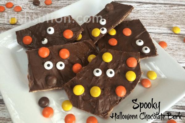 Spooky Halloween Chocolate Bark Re cipe by TrishSutton.com