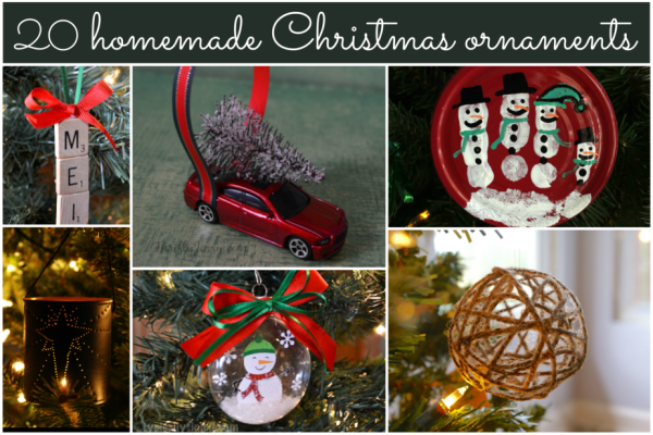 20 Homemade Christmas Tree Ornaments; Round-up by TrishSutton.com