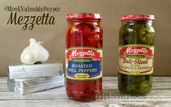 Creamy Roasted Pepper Dip, Made With Mezzetta Peppers; #MostValuablePepper Recipe & Giveaway, TrishSutton.com