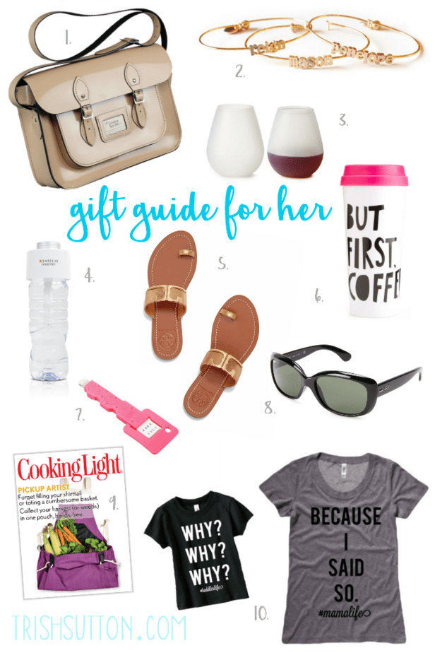 Gift Guide for Her, Mother's Day Must Haves from $13 to $195. trishsutton.com