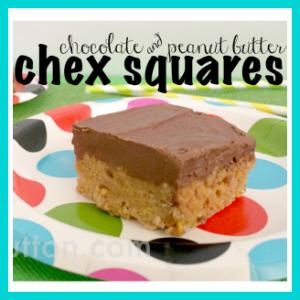 Chocolate & Peanut Butter Chex Squares Recipe