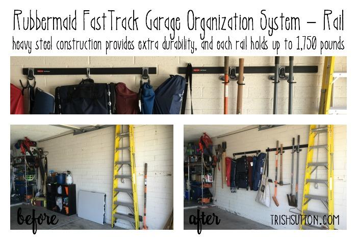 $100 Rubbermaid FastTrack Garage Clean-Up; TrishSutton.com