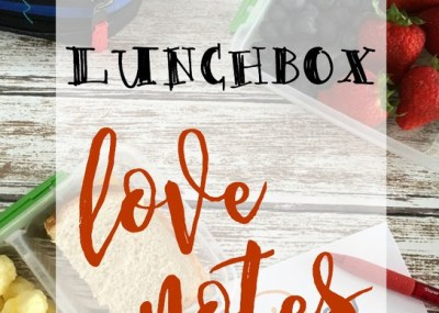 School Lunchbox Love Notes; Free Printable for Kids, TrishSutton.com