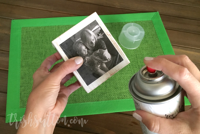 DIY Wood Block Photo Cube; A Homemade Gift Made of Memories for Grandparents Day. TrishSutton.com