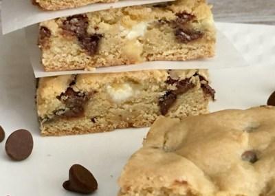 Recipe: Chewy Chocolate Chip Cookie Bars, TrishSutton.com