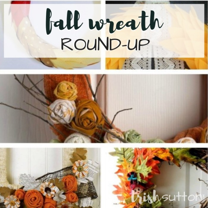 First Day Of Autumn; Fall Wreath Round-Up by TrishSutton.com