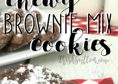 Chewy Brownie Mix Cookie Recipe by TrishSutton.com