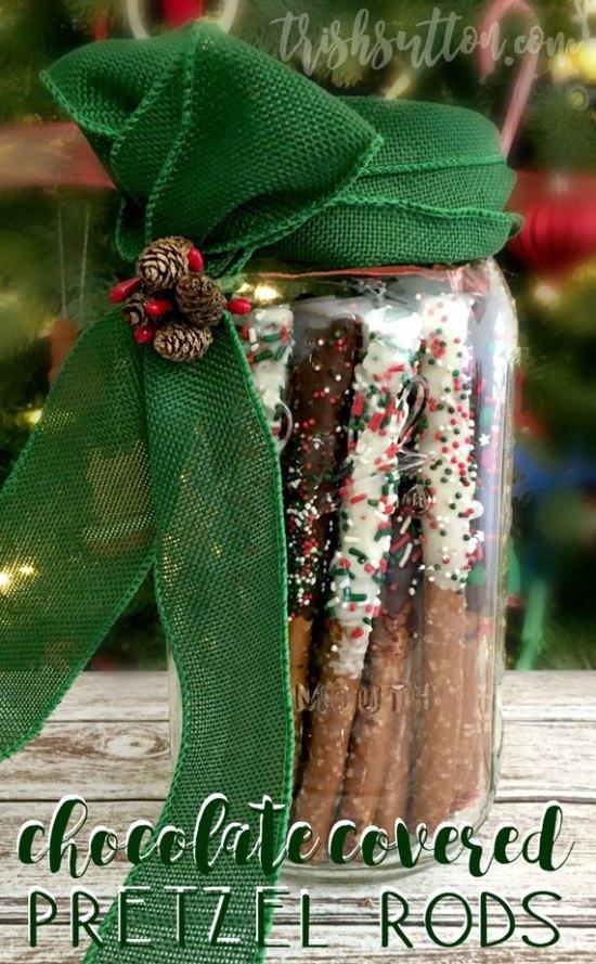 Simple DIY Chocolate Covered Pretzel Rods, TrishSutton.com