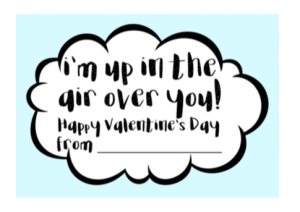 Airplane Valentine With Free Printable; Non Candy Kids Valentine TrishSutton.com