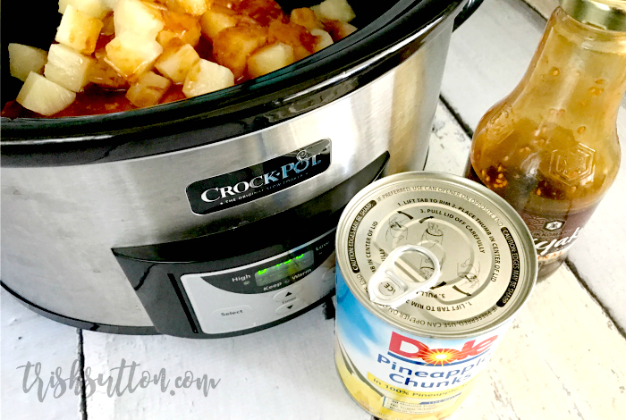 Pineapple Teriyaki Chicken With Brown Rice Crock Pot Recipe | TrishSutton.com