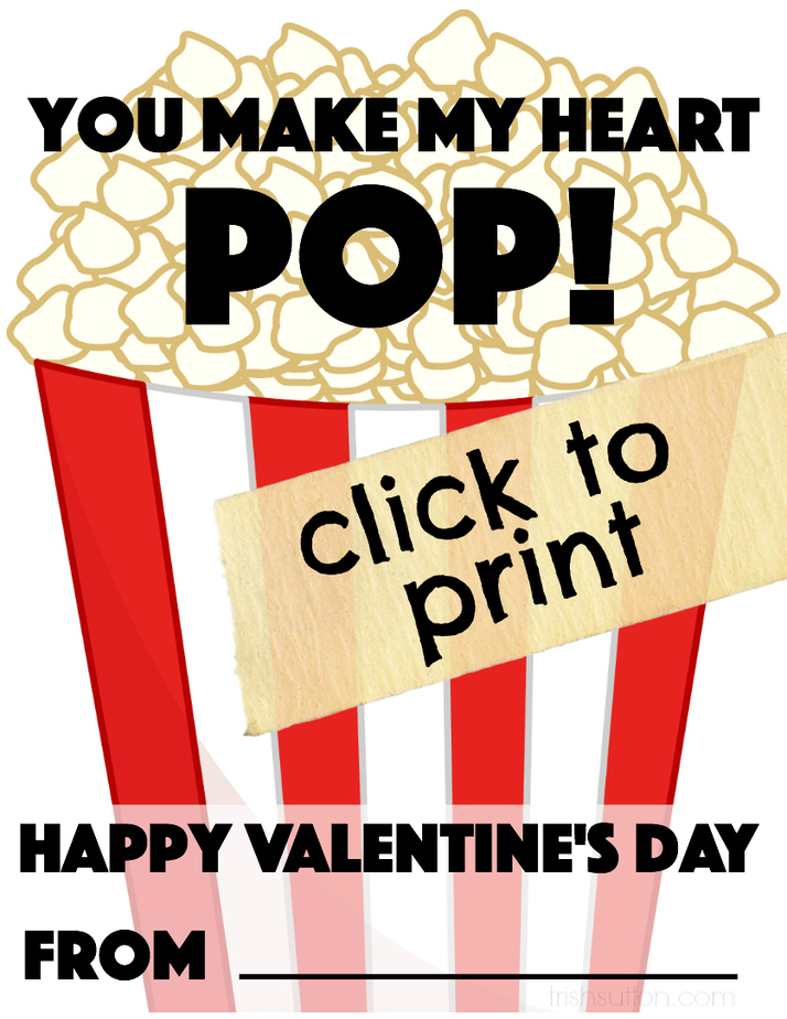 picture relating to You Make My Heart Pop Valentine Printable referred to as Printable Valentine Oneself Deliver My Centre Pop! Trish Sutton