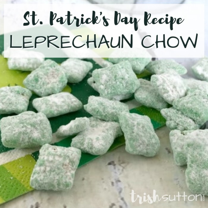 A festive green treat with only five ingredients, St. Patrick's Day Recipe: Leprechaun Chow. It's true I LOVE ST. PATRICK'S DAY!! All the green, the food, the celebration and quite honestly, the over indulging. On top of all that, it is my baby brother's birthday. With a few weeks to spare I created a batch of Leprechaun Chow and I shared the recipe on Kenarry: Ideas for the Home. Head over there to find out all about this sweet green treat. St. Patrick's Day Recipe: Leprechaun Chow